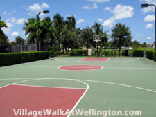 This lighted lakefront basketball court at VillageWalk has to be the most scenic to be found anywhere in Wellington, Florida.