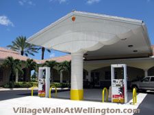 A convenience rarely seen is an on-site gas station such as the one found at Village Walk's town center.